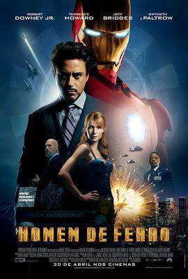 Homem de Ferro -  Tony Stark (Robert Downey Jr.) é um industrial bilionário, que também é um brilhante inventor. Ao ser sequestrado ele é obrigado por terroristas a construir uma arma devastadora mas, ao invés disto, constrói uma armadura de alta tecnologia que permite que fuja de seu cativeiro. A partir de então ele passa a usá-la para combater o crime, sob o alter-ego do Homem de Ferro.  (Filme de 2008)