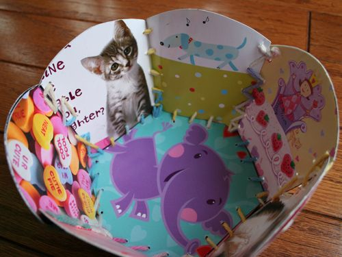 Don't toss those old holiday and birthday cards. Do a fun, crafty DIY project with them instead -- like making a basket.
