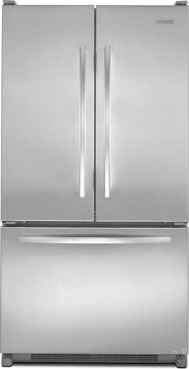 Kitchenaid kbfs20ev 19 7 cu ft counter depth french door refrigerator with 4 adjustable - Kitchenaid architect counter depth refrigerator ...