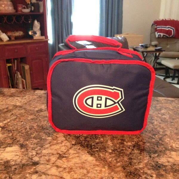 Montreal Canadiens Habs Hockey Thermal Lunch Bag.  This bag means I'm back to work...Yuck!!!