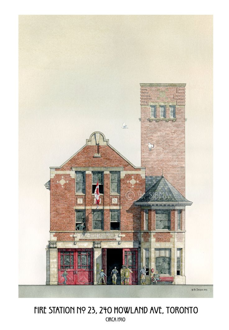 Fire Station No. 23 Howland Avenue Toronto. by WaltsTSquare