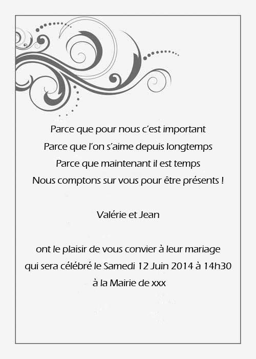 Les textes des invitations de mariage