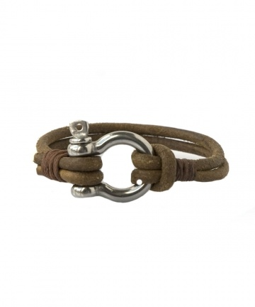 Bracelet Voile en cuir et manille de voilier des Editions LESSisRARE sur…