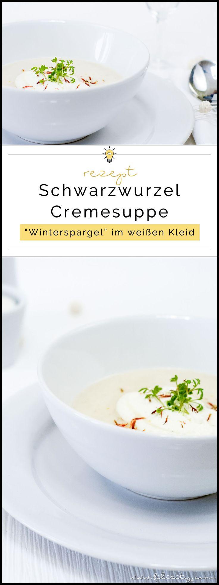 Rezept für orientalische Schwarzwurzel-Cremesuppe   Perfekt für Diner en Blanc   Filizity.com   Food-Blog aus dem Rheinland #vegetarisch #suppe #spargel