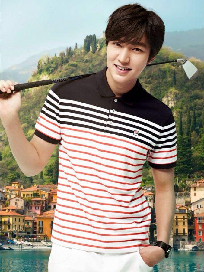 Lee Min Ho para la recolección de Lago de Como de la FILA