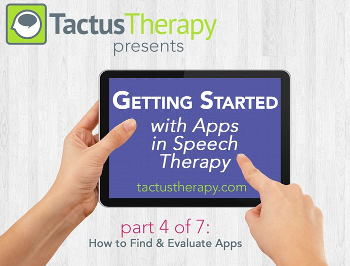How to Find Good Apps for Speech Therapy - Part 4 of 7 Learn the 3 ways we find apps and how to evaluate whether they're right for you. Download our free App Evaluation Guide to help you decide which apps are best.