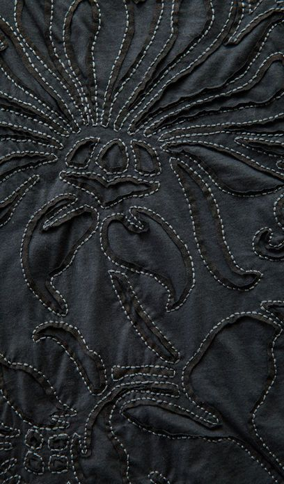 Reverse Applique with contrasting stitch detail; sewing; textiles; fabric…