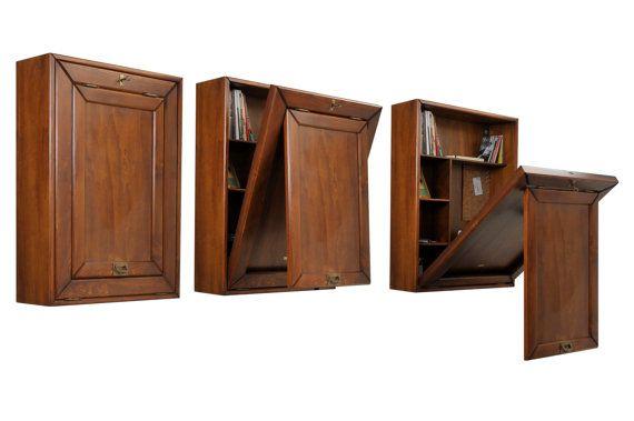 Innovative Vintage Wood Office Desk Organizer by LifeColorsCity
