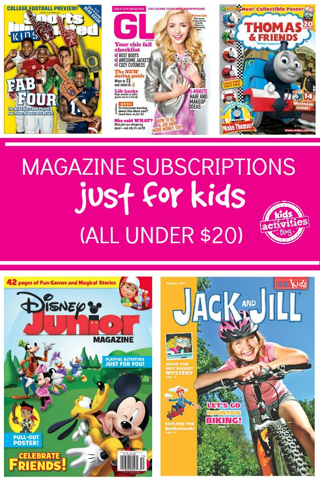 My kids love magazine subscriptions! Here is a huge selection you can get for less than $20.