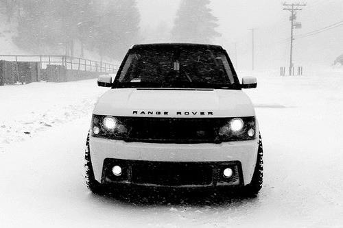 White Range Rover Blacked out tint Blacked out rims  My Dream