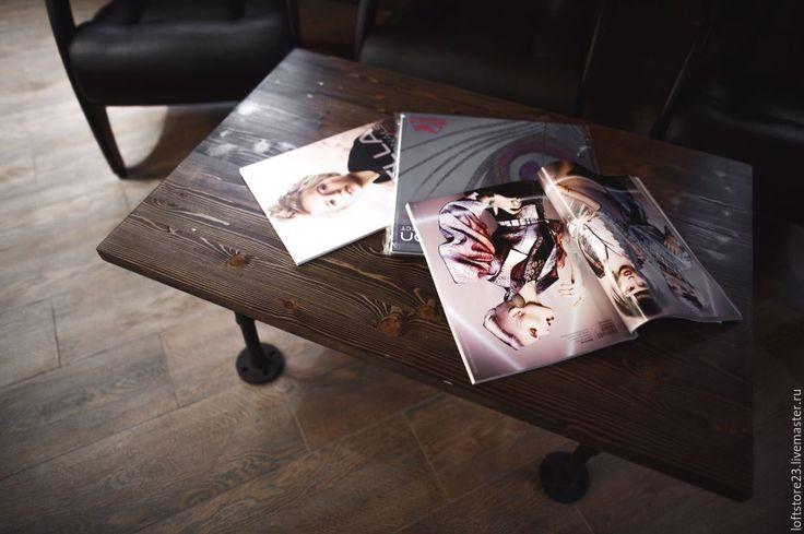 Купить Журнальный стол CONCORD. - коричневый, стол, столик, журнальный столик, стол из труб