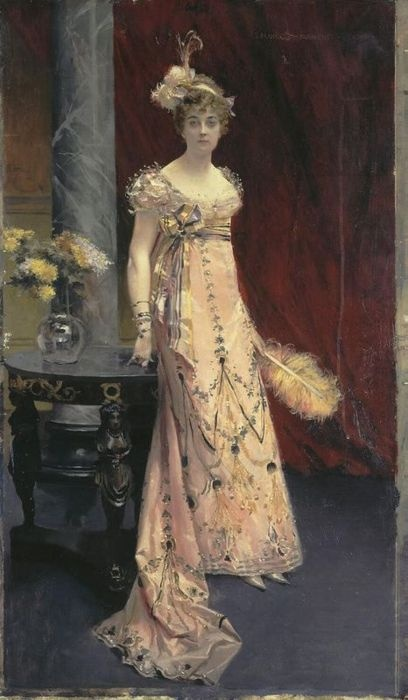 """Flameng  Francois """"Portrait of Dora of Leuchtenberg"""": 1896, Art, Dora, Portraits, Painting"""
