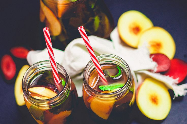 This peach and plum iced tea will be your life saver on these ridiculous summer days. the cinnamon and star anise give this tea a beautiful rustic taste. If you love those flavours, you can always increase the amount you put it to give a flavour punch, or reduce the quantity if you want the peach and plum flavour to shine through more.