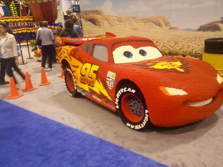 LEGO Lightning McQueen is full-sized at about 250000 pieces
