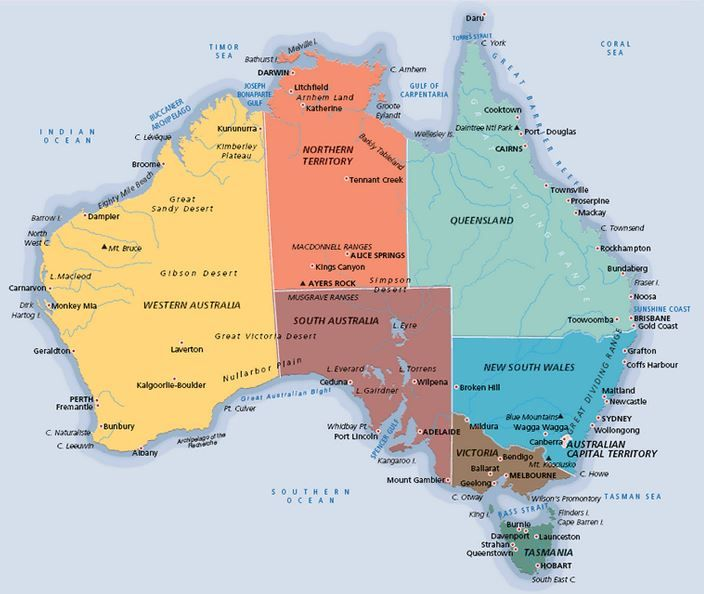 Best World Images On Pinterest Maps Bucket And Bucket Lists - Australia map with cities