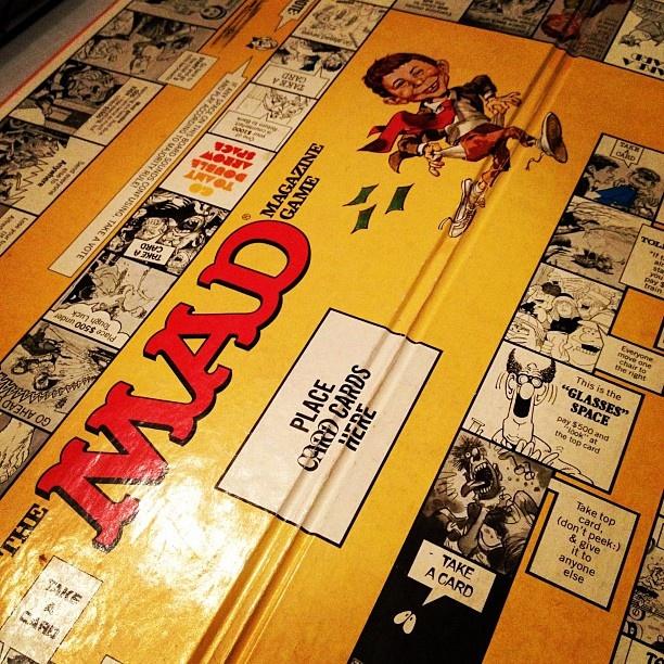 MAD Magazine The Board Game (1979) Card games, Board