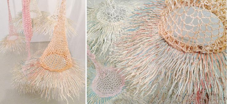 barbara wildenboer with liza grobler | chance favours the connected mind | paper construction and crocheted string