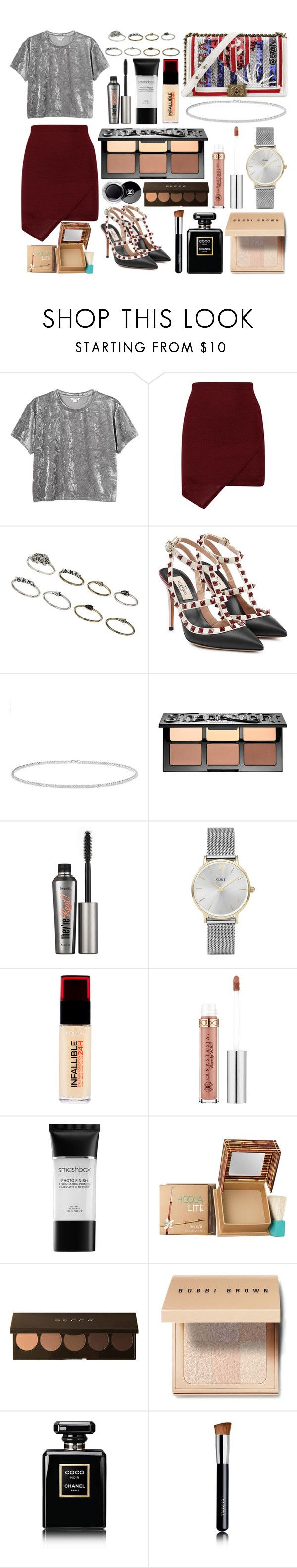 """""""293."""" by plaraa on Polyvore featuring moda, Monki, Topshop, Valentino, Chanel, Anne Sisteron, Sephora Collection, Benefit, CLUSE y L'Oréal Paris"""