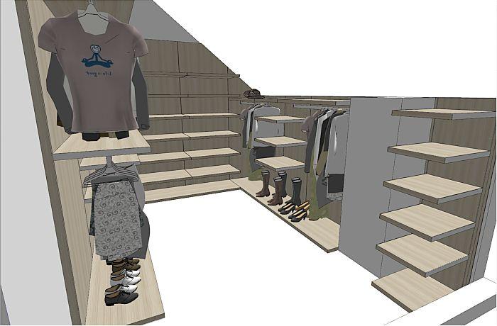 Walk in wardrobe loft conversion