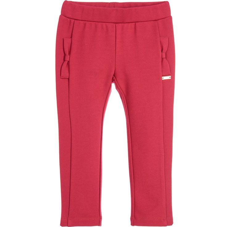 Liu Jo Girls Red Milano Jersey Trousers at Childrensalon.com