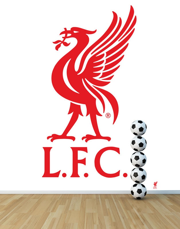 L.F.C Liverbird crest wallpaper mural. The club crest is printed on easy-up wallpaper perfect for the super fan's home. Available at sportswalls.co.uk