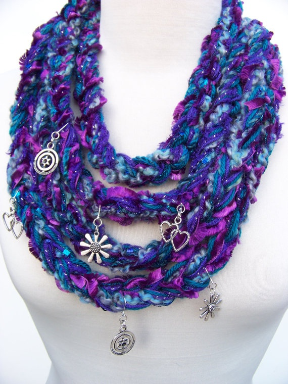 CHARMING Crochet Infinity Scarf by sewstacy, $25.00