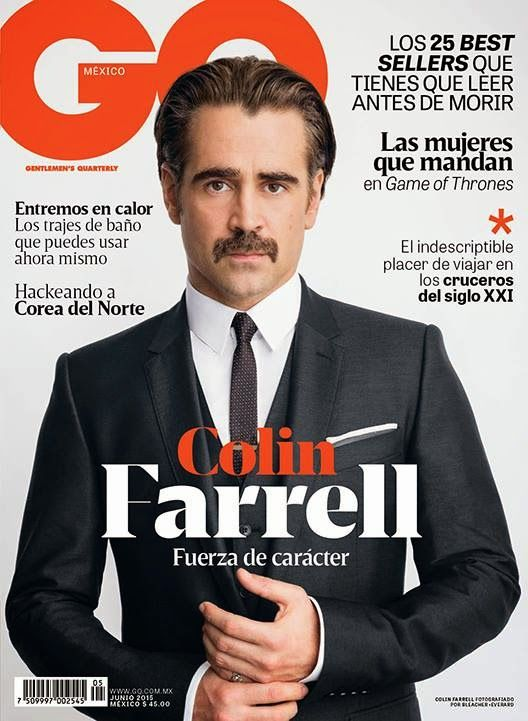 Colin Farrell en portada de GQ México Junio 2015
