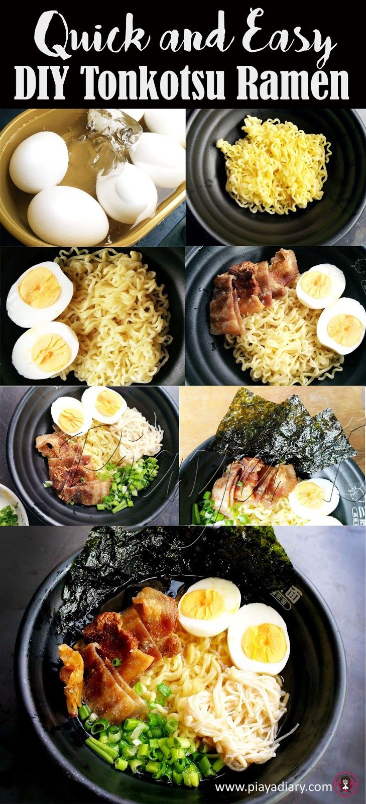 Super easy DIY Tonkotsu Ramen. Try it today