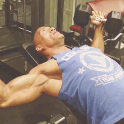 """6 GIFs Of The Rock Shouting """"Focus"""" While Working Out"""