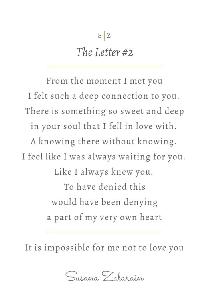 writing a deep love letter