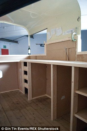 Over the next eight weeks John replaced horse hair and hay with pine worktops and a handma...