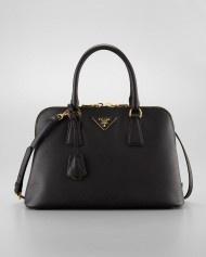 Prada Saffiano Promenade Handbag Nero in Black (nero)