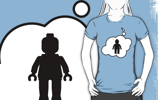 Minifig Man T-shirt by Bubble-Tees.com by Bubble-Tees