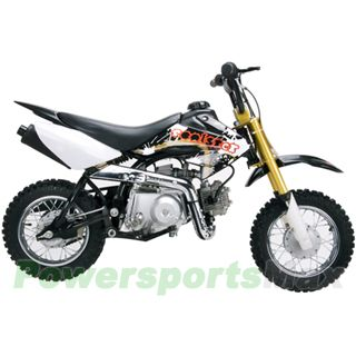 Coolster QG-210 70cc Dirt Bike with Semi-Auto Transmission, Honda XR50 Upgraded!