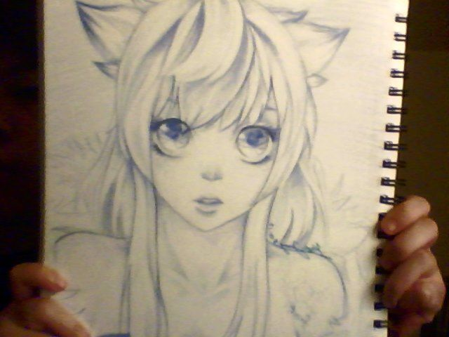 Color pencil sketch frost girl by xx funnybunny xx