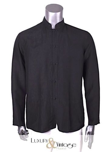 Amazing Giorgio Armani Shirt Oriental Details Sz IT 52 US 42 Excellent condition