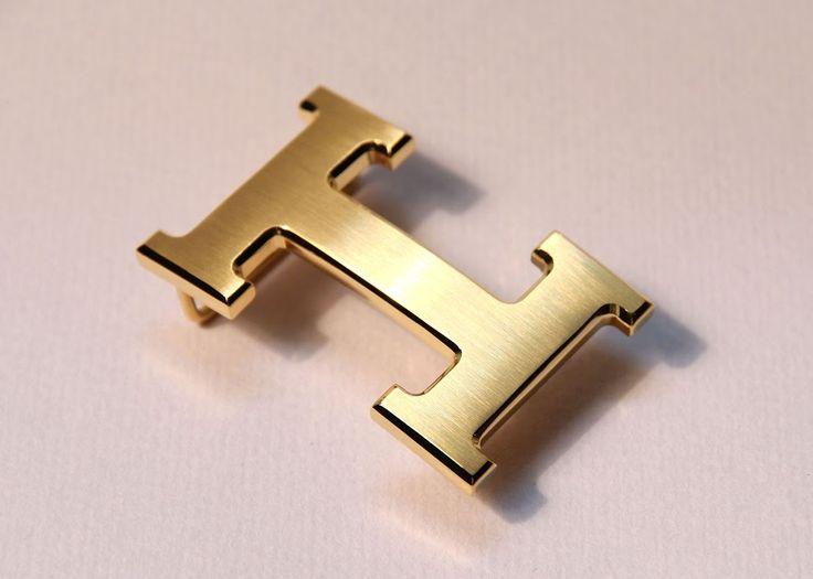 Hermes H 32mm Gold Brushed Belt Buckle - Belt Buckles
