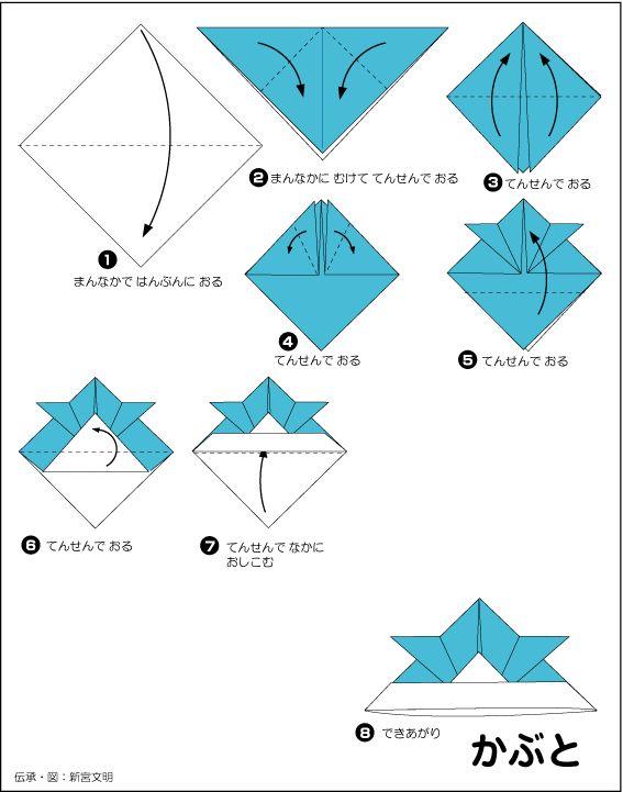 折り紙・かぶと/ Kabuto/helmet   おりがみ・origami   Pinterest   Fun