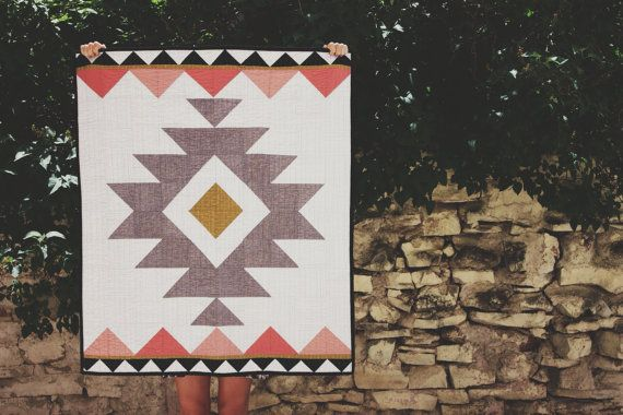 Aztec werfen Quilt | Baby Quilt