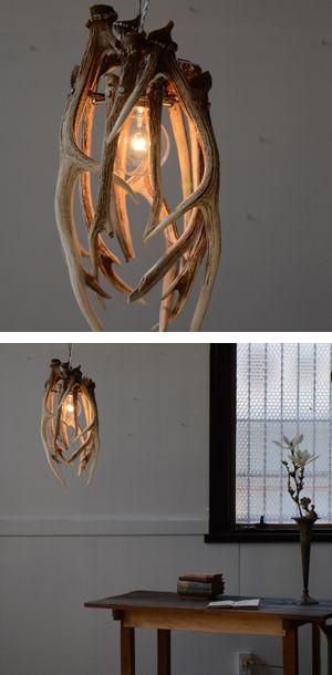 Antler light fixture... @nikki striefler Hendon this made me think of your folks :)