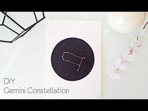 DIY Gemini Constellation Wall Art  - ZodiacConstellation