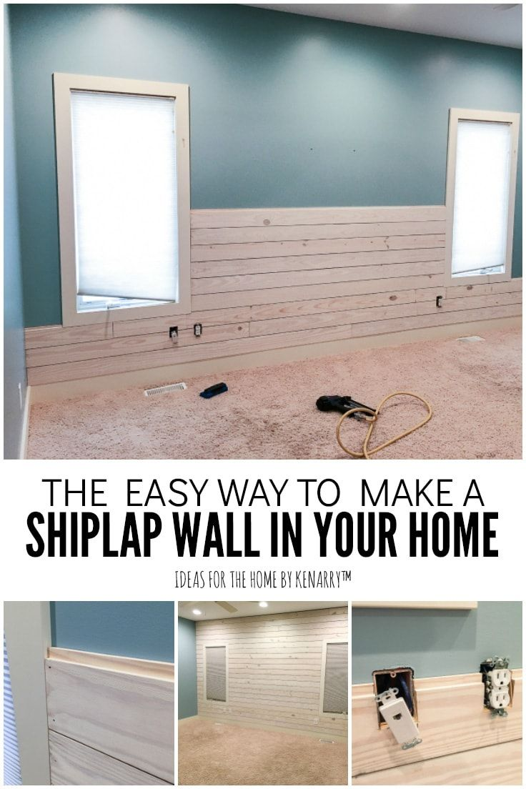 How To Make A Shiplap Wall In Your Home Ship Lap Walls Master Bedroom Accents Accent Walls In Living Room