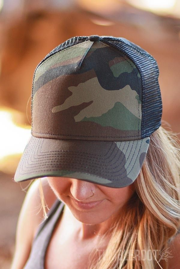 This camo hat is gonna fit your day just right. Plus, when you wear it, you'll be invisible. And awesome. But nobody will be able to see how awesome you are, so you'll need to take off the hat every o