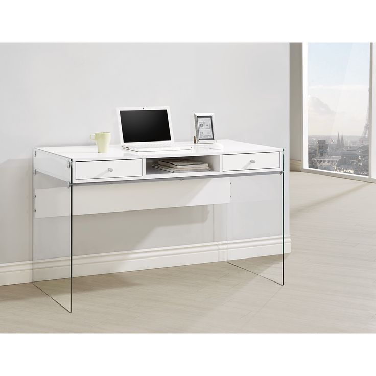 Coaster Company Glass and Metal Computer Desk | Overstock.com Shopping - The Best Deals on Desks