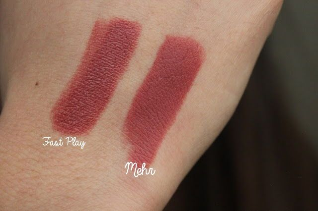 mac fast play and mehr lipstick | Here
