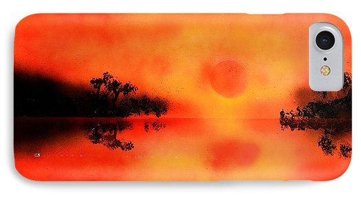 Joy Of The Sun IPhone 7 Case Printed with Fine Art spray painting image Joy Of The Sun by Nandor Molnar (When you visit the Shop, change the orientation, background color and image size as you wish)