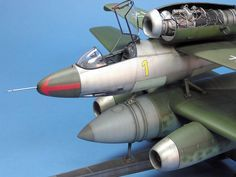 Heinkel He 162 and Arado E377a Mistel by Spencer Pollard (Revell 1/32)