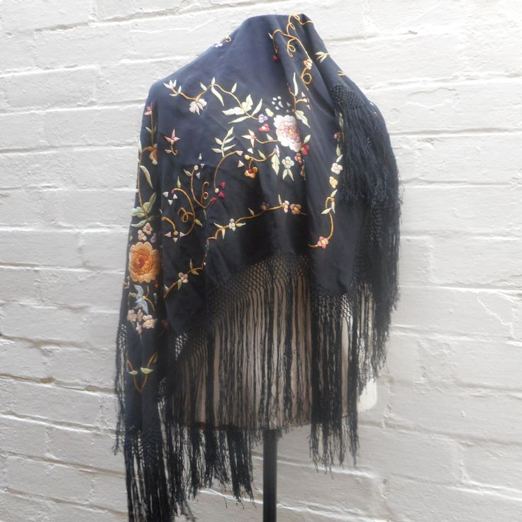 1920s Piano Shawl by recycology on Etsy