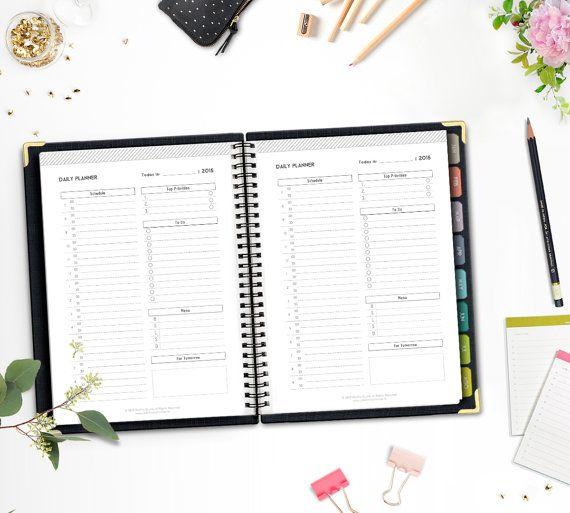 Printable Time Management Kit 2015/16 • A5/Half letter • Minimalistic & Stylish