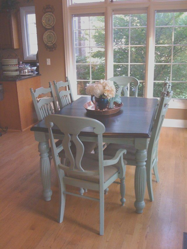 38++ Chalk paint dining table and chairs Trend
